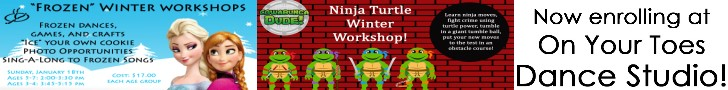 On Your Toes - Frozen and Ninja Turtle winter camps Jan 18 2015