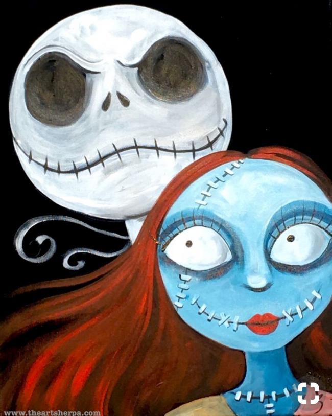 Christmas Paintings For Kids.Kids Canvas Painting The Nightmare Before Christmas Kids