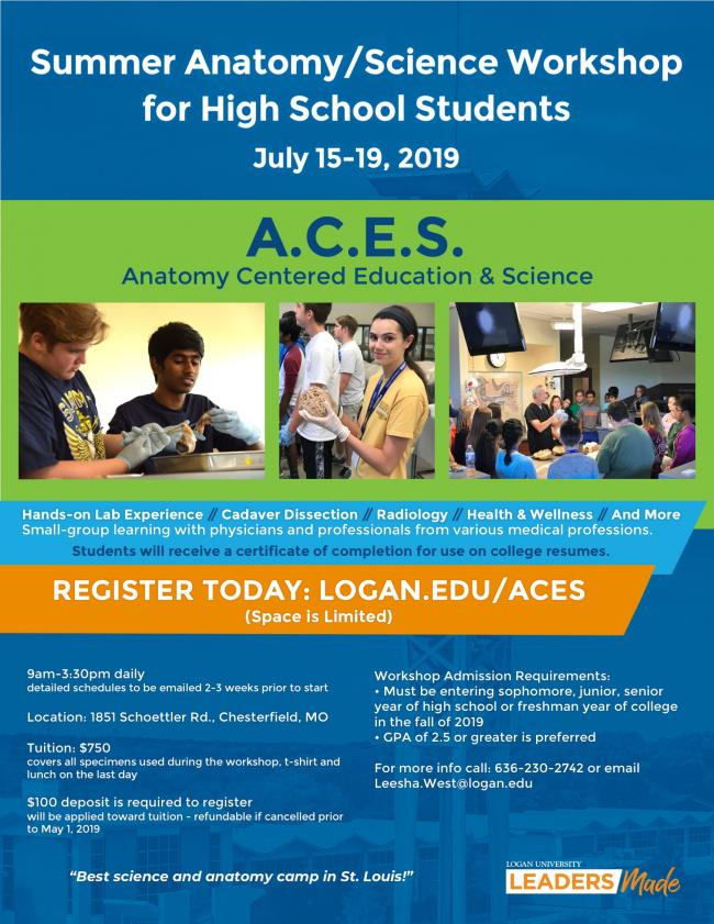 Anatomy & Science Workshop for High School Students | Kids